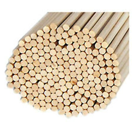 "Pack of 100 Round Hardwood Dowel Rods 3/16"" Dia X 36"" Long 7303u C.c. Gray, Smooth Satin Finish Aspen By GBW"