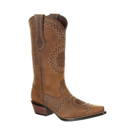 Women's Durango Boot DRD0227 Crush Etch Western Cowgirl Boot](Light Up Cowgirl Boots)