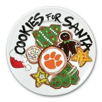 Clemson Tigers Cookies For Santa Plate