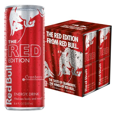 Red Bull The Red Edition Cranberry Energy Drink  8 4 Fl Oz  4 Pack