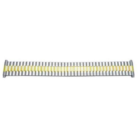 Brushed And Polished Dual Tone 15mm-22mm Expansion Watch Band Dual Sim Quad Band