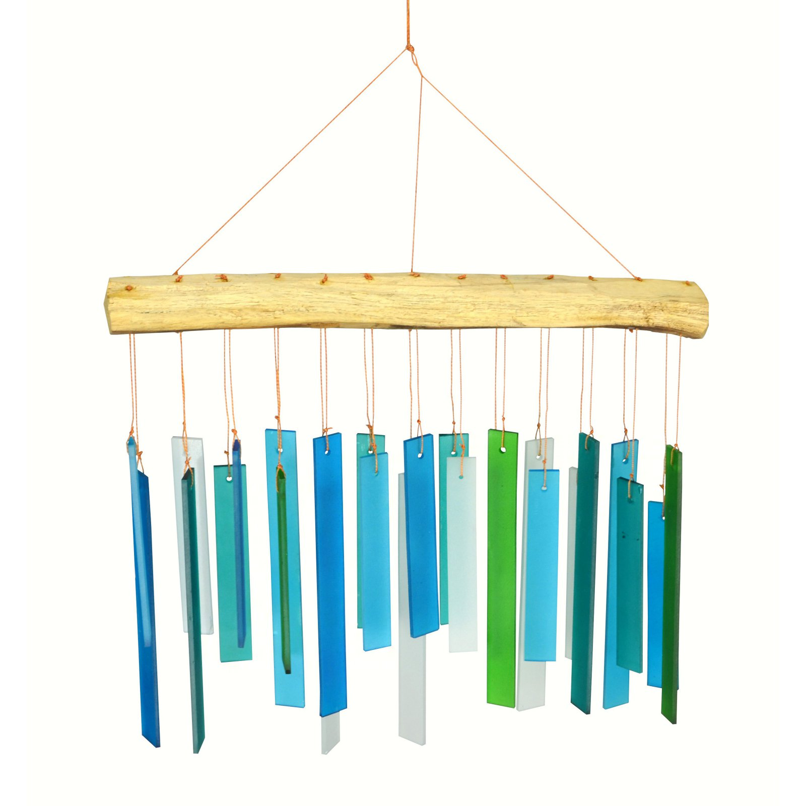 Gift Essentials Seaglass and Driftwood Wind Chime by Plow & Hearth