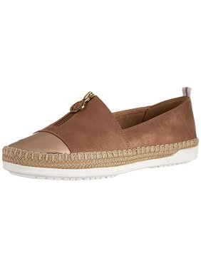 Anne Klein Womens Akzetta Fabric Low Top Slip On Fashion Sneakers