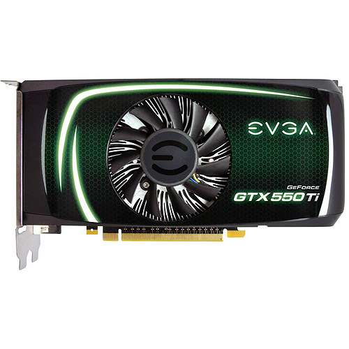 evga geforce gtx 550 ti 2048 mb gddr5 pci express 2.0 2dvi/mini-hdmi sli ready graphics card, 02g-p3-1559-kr