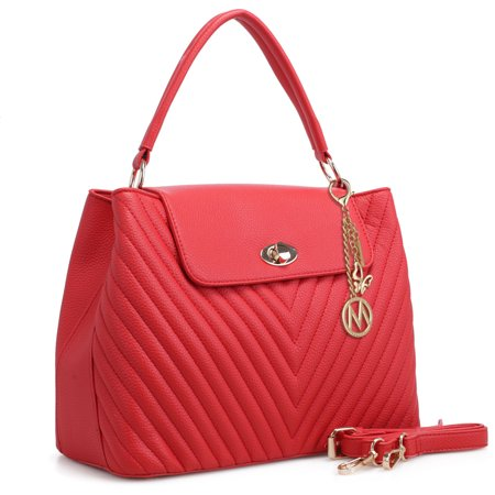 MKF Collection Yasmin Chevron Quilted Satchel Bag by Mia K Farrow - Chevron Bag