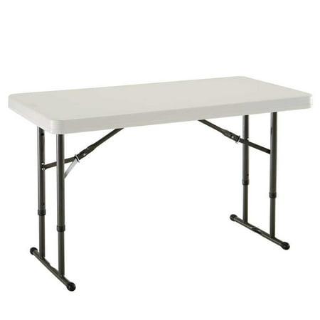Lifetime 4' Adjustable Folding Table, Almond, (Lifetime Almond 5 Foot)
