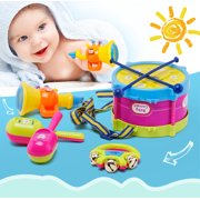 Baby Concert Toys 5Pcs New Roll Drum Musical Instruments Band Kit Unisex Colorful Educational Learning and Development Toys Gift for Toddler Infant Newborn Children Kids Boys