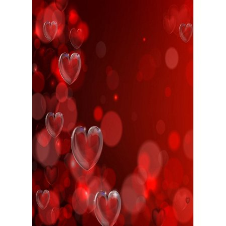Greendecor Polyester Fabric Valentine S Day Theme 5x7ft Backdrop