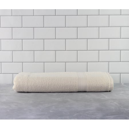Mainstays Basic Bath Collection - Single Bath Sheet, Solid Vanilla