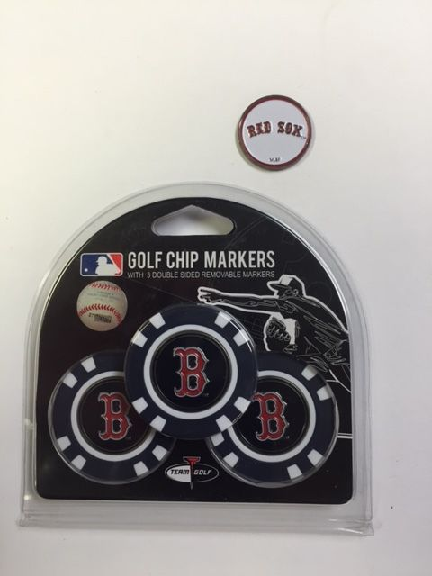 Boston Red Sox 3- PACK Golf POKER CHIPS, with markers, BONUS MARKER FREE by