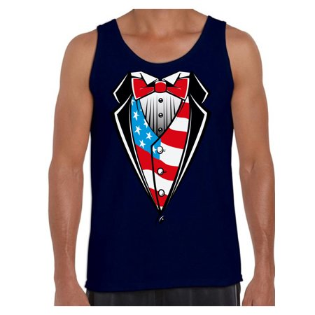 131fa69321a4b Awkward Styles Men s Tuxedo American Flag Graphic Tank Tops USA Patriotic