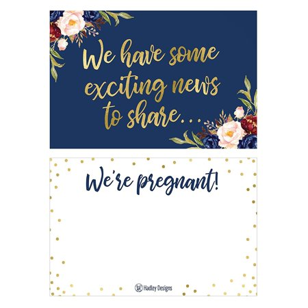 25 Navy Pregnancy Announcement Card Set Were Expecting Baby Surprise Having Birth Reveal Only Best Friends Get Promoted To Auntie Aunt Uncle Grandpa Grandma Grandparent Sister Brother Family Dad (Best Pregnancy Announcement Photos)