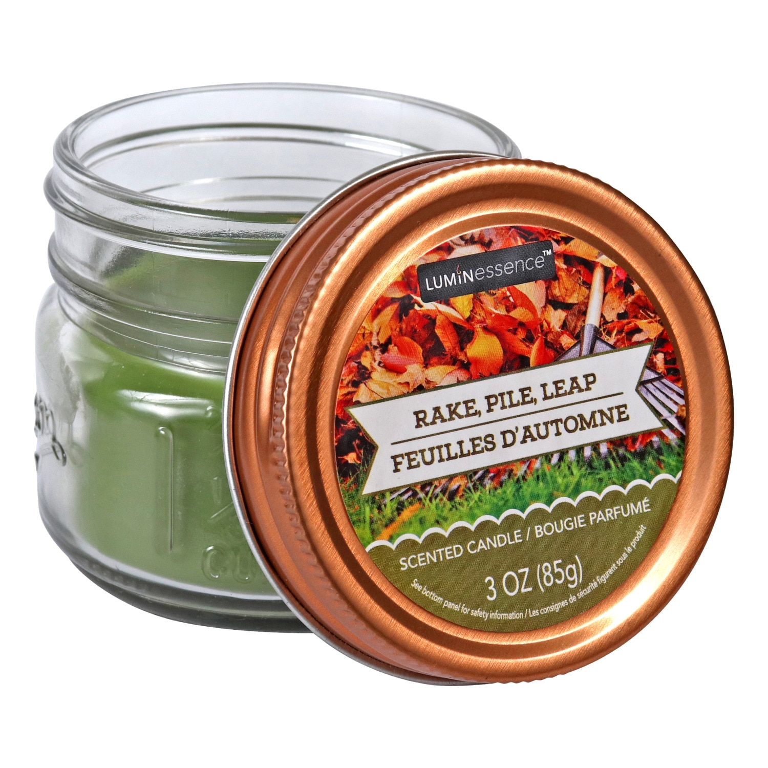 Candles For Home Scented 4 Pack Rake Pile Leap Scented Mason Jar Candles 3 Oz Scented Candles Walmart Com Walmart Com