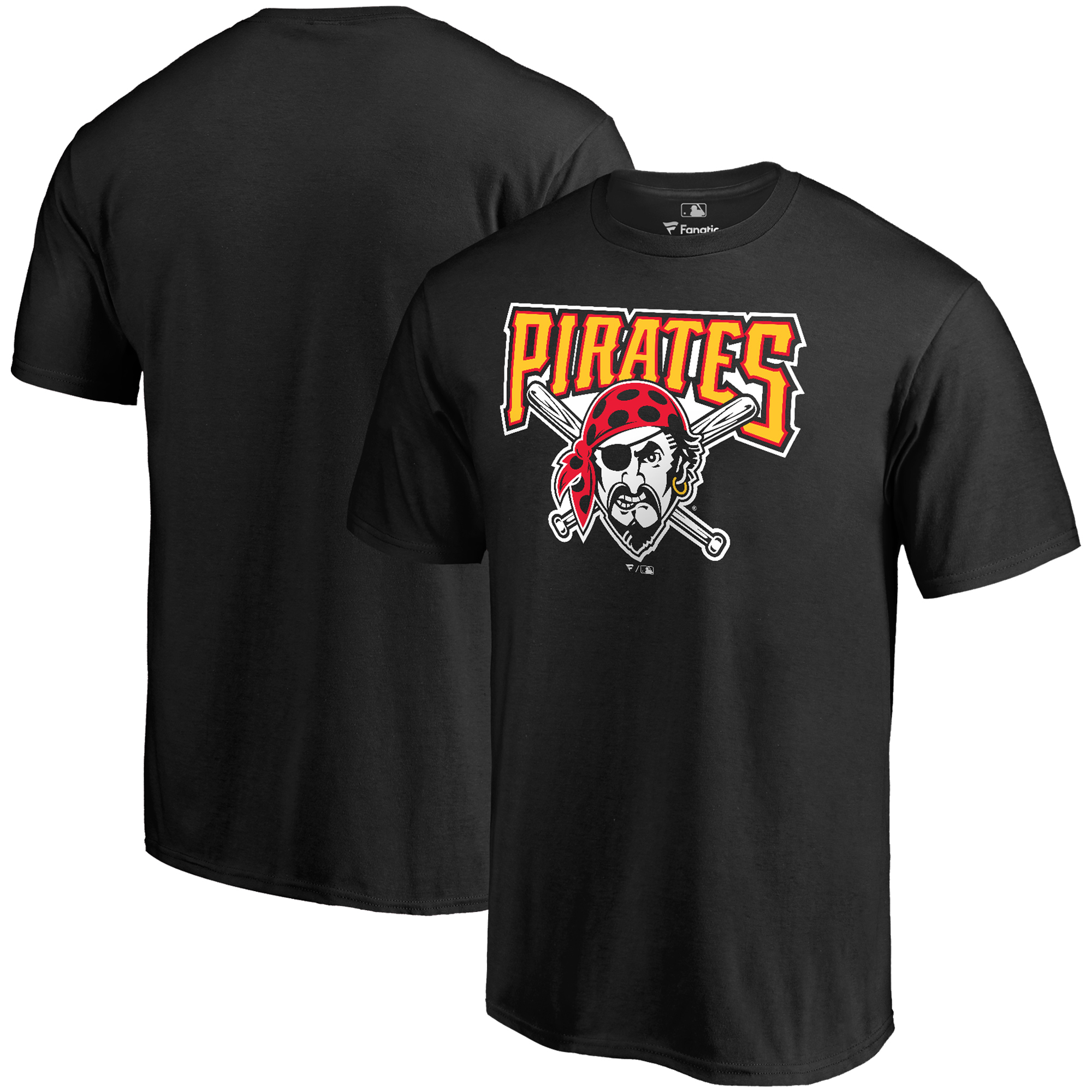 Pittsburgh Pirates Fanatics Branded Big & Tall Cooperstown Collection Huntington T-Shirt - Black