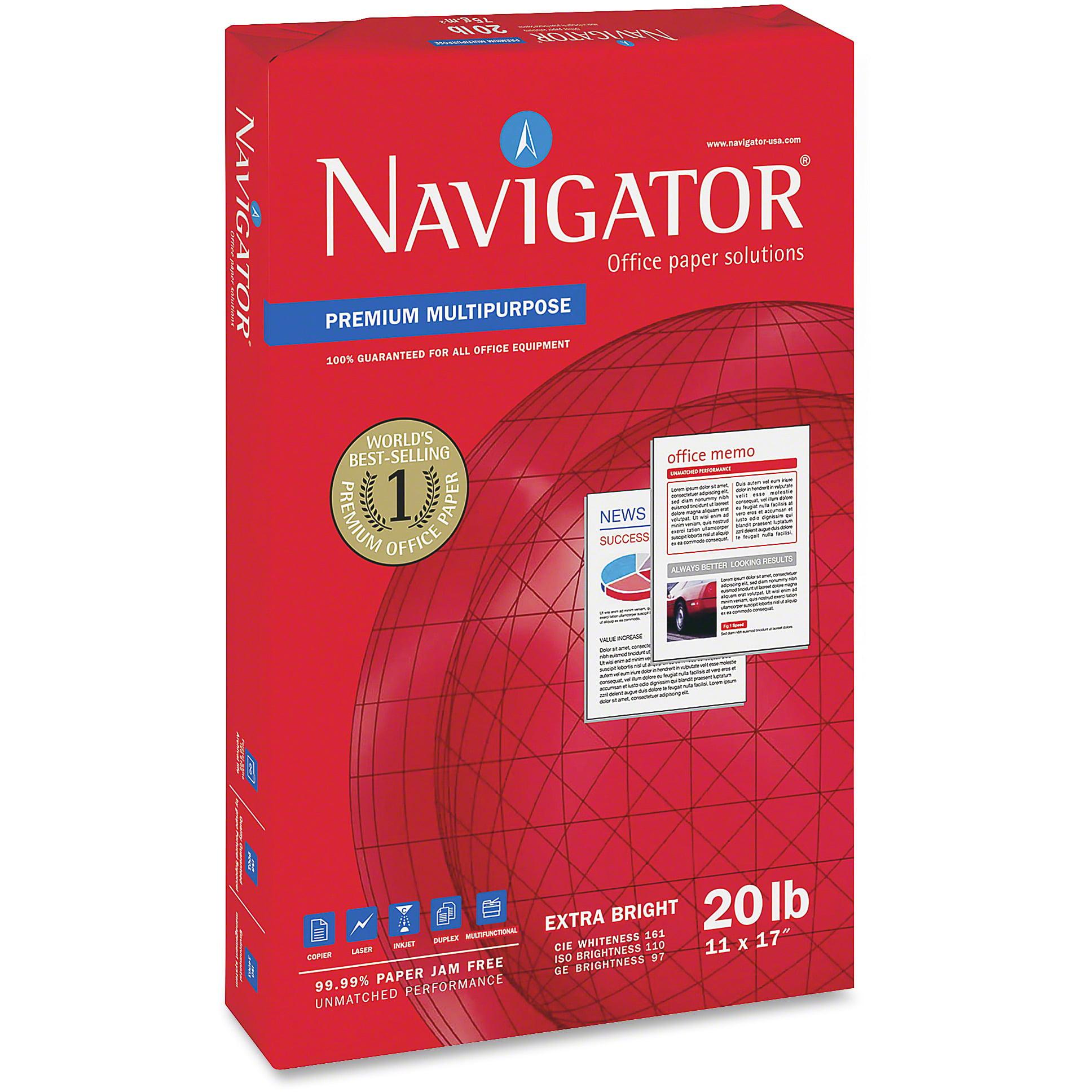 Navigator, SNANMP1720, Soporcel Premium Multipurpose Paper, 5 / Carton, White