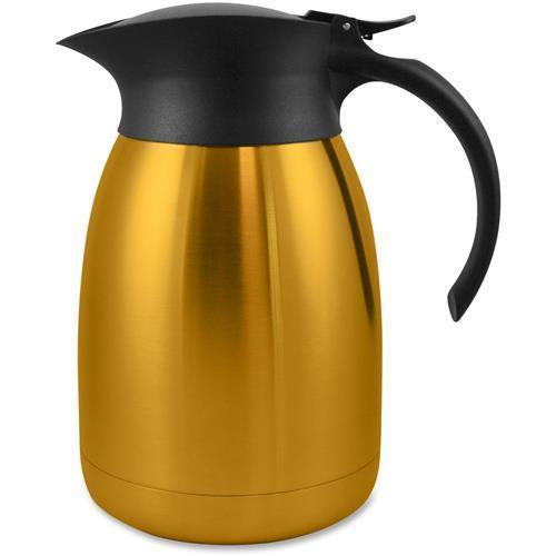 11951CT Genuine Joe Classic Vacuum Carafe - 1.3 quart (1.2 L) - Stainless Steel, Gold