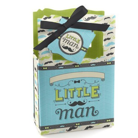 Dashing Little Man Mustache - Party Favor Boxes - Set of 12](Mustache Part)