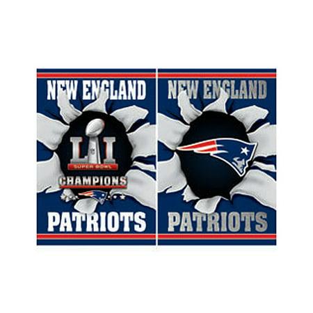 New England Patriots Super Bowl LI Champions Breakout Foil Garden Flag - No Size - Patriots Banner