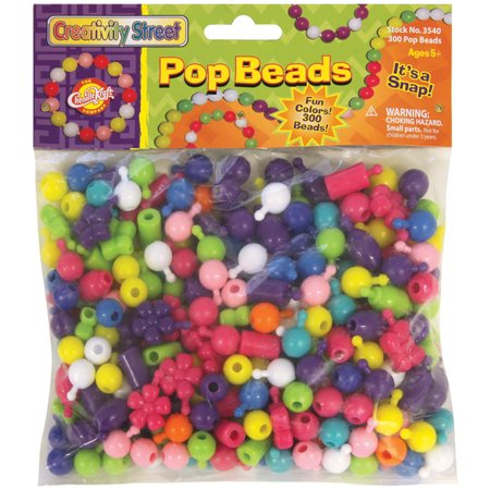 Pop Beads 300/Pkg-Assorted Shapes (300 Beads)