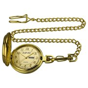 Men's JFK Gold-Tone Pocket Watch