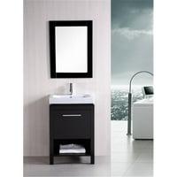 Design Element Group DEC091A New York 24 in. Single Sink Vanity Set, Espresso