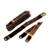 Gift Box Metal Rotatable Folding Lid Lift Up Stay Support Hinge Bronze Tone 7pcs