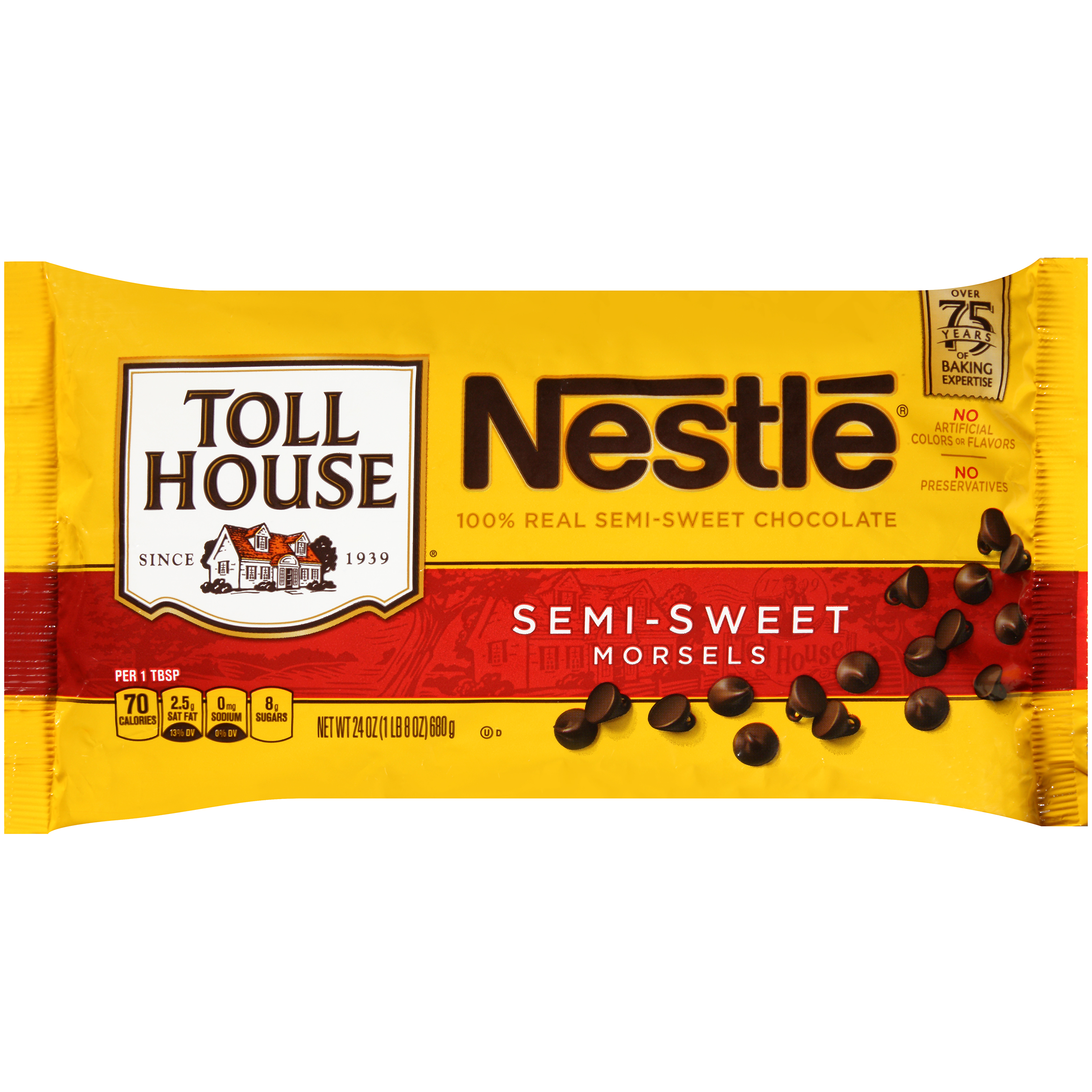 Nestle TOLL HOUSE Semi-Sweet Chocolate Morsels 24 oz. Bag