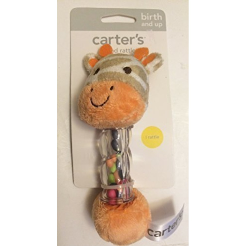 Carter's Giraffe Baby Soft Hand Rattle for Birth and up Activity Toy