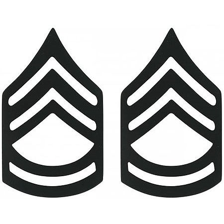 Subdued - Military Sergeant First Class Pin-On Insignia Pair - Sergeant First Class Insignia