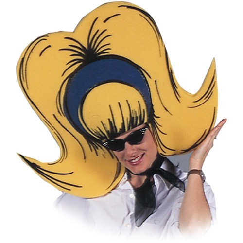 Bouffant Yellow Foam Hat Adult Halloween Accessory