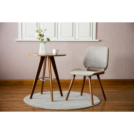 Porthos Home Wood Side Table With Round Table Top, Wooden Legs And Metal Ring Accent For Living Room, Dining Room Or Bedroom ()