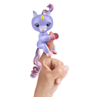 Fingerlings- Interactive Baby Unicorn - Alika (Purple with Rainbow Mane) - By WowWee