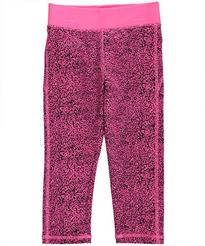 OshKosh B'gosh Little Girls' Althletic Active Capri- Hot Pink Leopard- 5 Kids