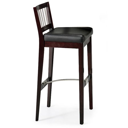 Metal stretcher padded bar stool 31 coffee for Walmart bar stools