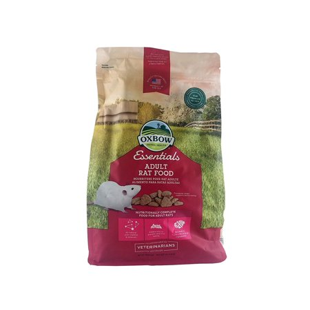 Oxbow Essentials Adult Rat Food, 3-Pound Bag, Contains 1- 3lb bag By Oxbow Animal Health