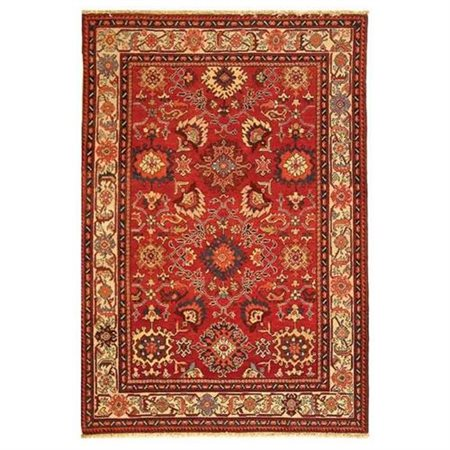 Safavieh Hand-Knotted Red/Ivory Area Rug
