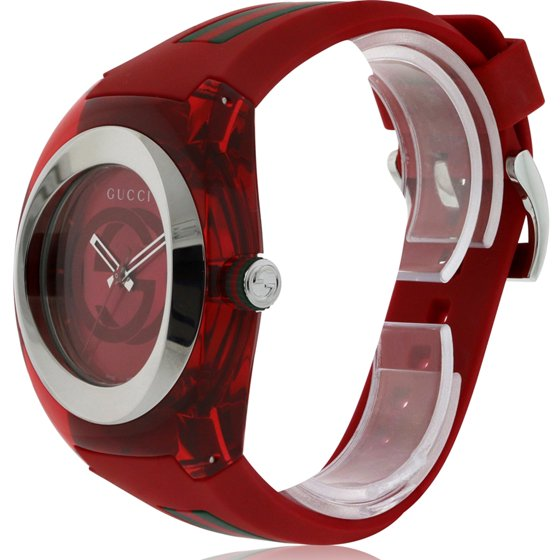 0606314803a Gucci - Sync XXL Red Rubber Unisex Watch YA137103 - Walmart.com