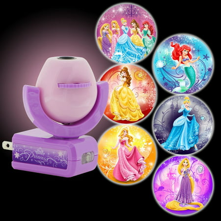 - Projectables Disney Princesses 6-Image Plug-In LED Night Light, Light Sensing, 11738