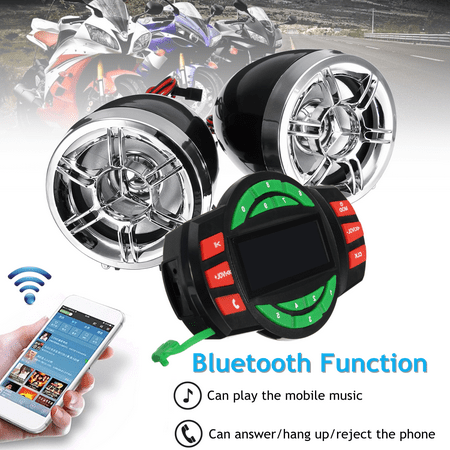 3'' bluetooth Motorcycle Handlebar Audio System USB SD FM Radio MP3 Speakers