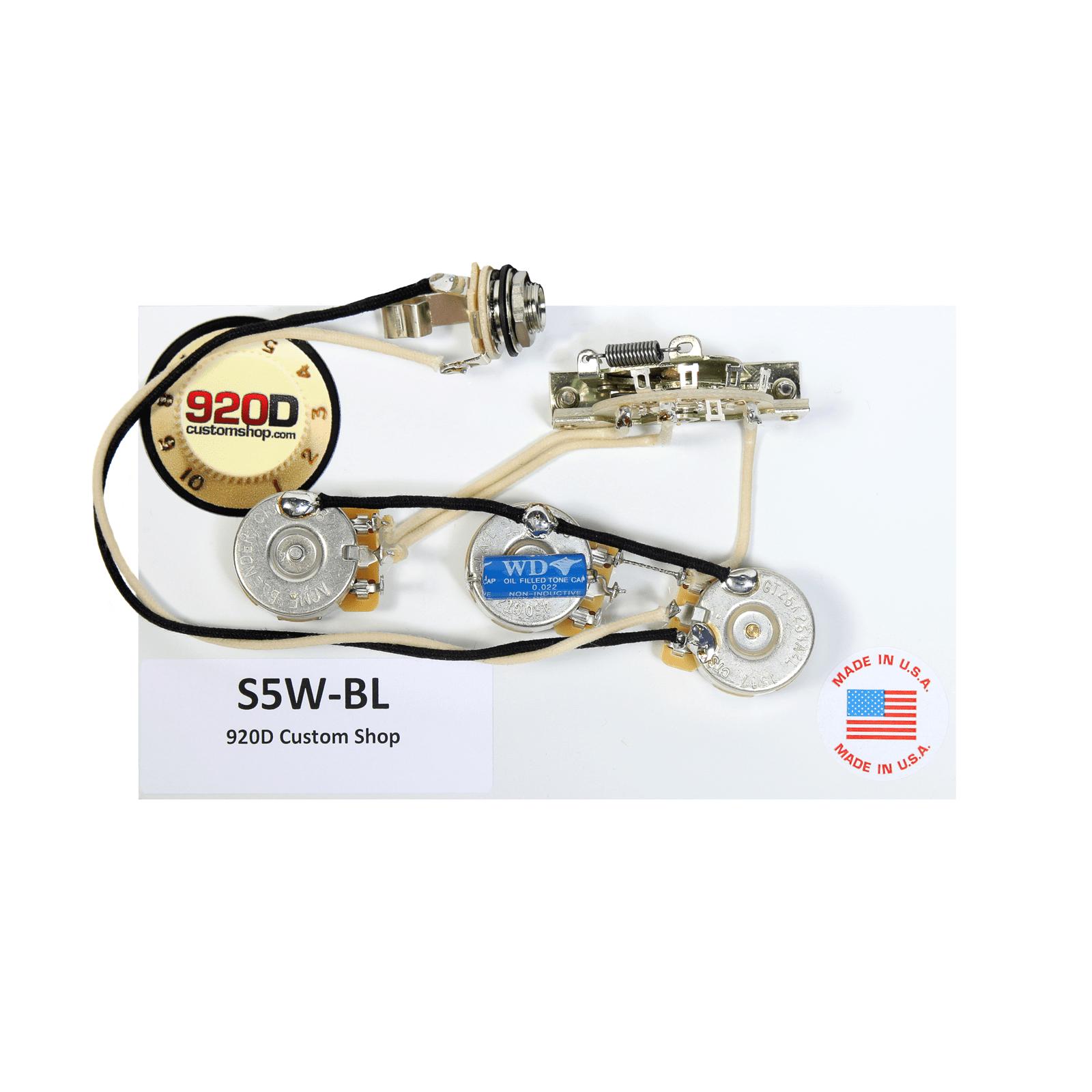 920D Fender Strat Stratocaster Wiring Harness Blender Pot CRL CTS PIO Gavitt by