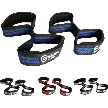 Sedroc Figure 8 Weight Lifting Wrist Straps for Powerlifting Deadlift Bar Grip -