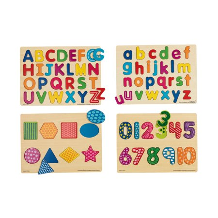 Excellerations Colorful Wooden Puzzles - Set of 4 (Item # BASICPUZ)](Discount Puzzles)