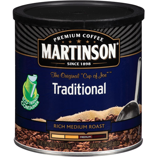 Martinson Traditional Rich Medium Roast Ground Coffee, 30.9 oz