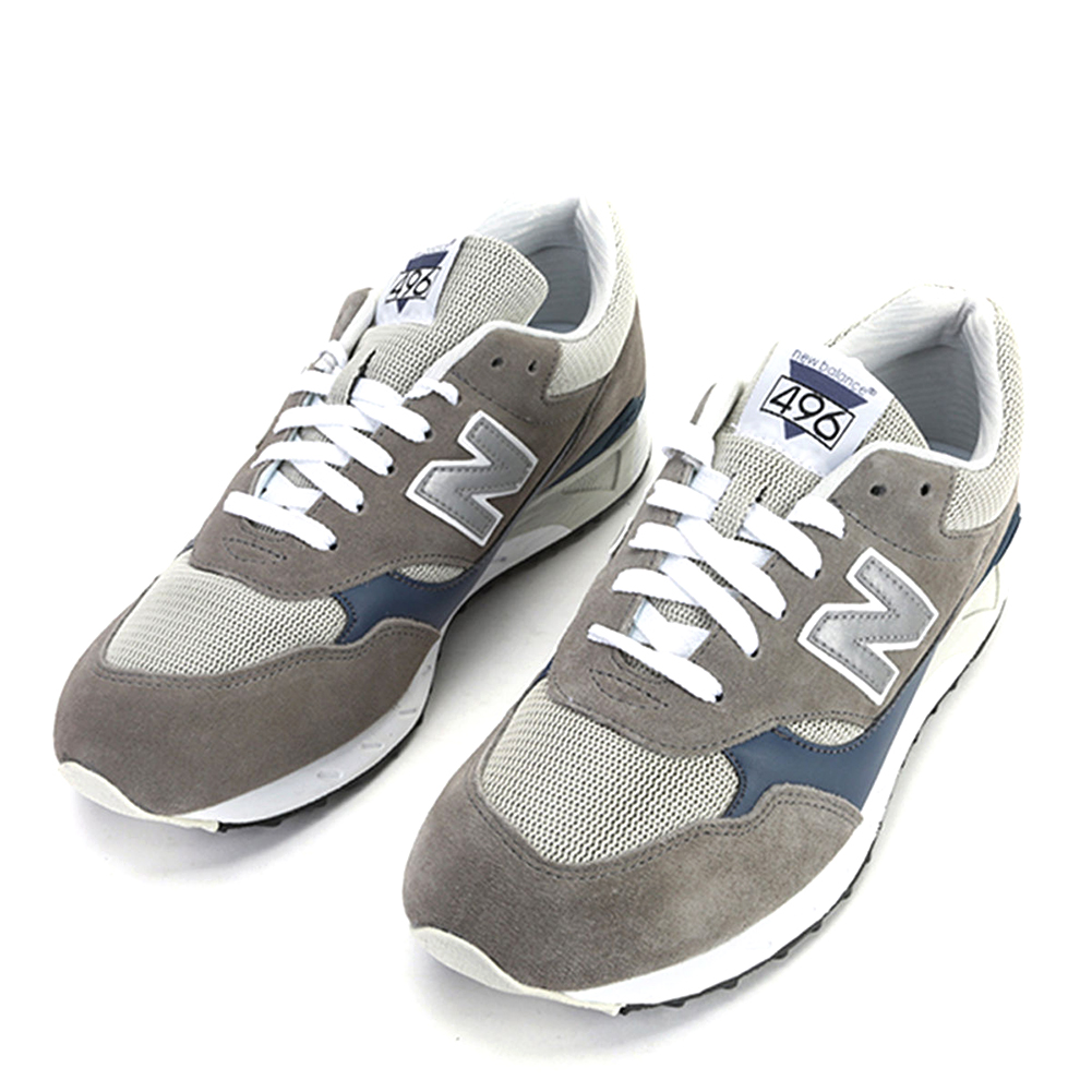 New Balance Men's 496 Series Running Shoes CM496GR Grey Navy by