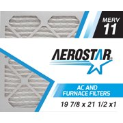 19 7/8 x 21 1/2 x 1 Carrier Replacement Filter by Aerostar - MERV 11, Box of 6