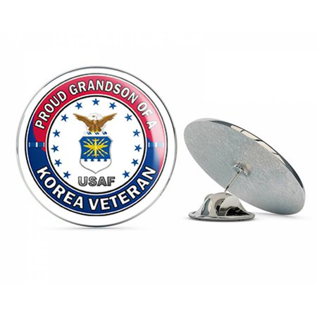 US Air Force Proud Grandson of a Korea Veteran Steel Metal 0.75