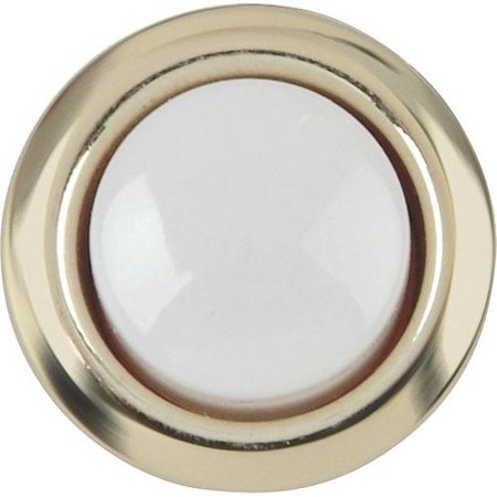 Carlon Polished Brass Doorbell Push-Button