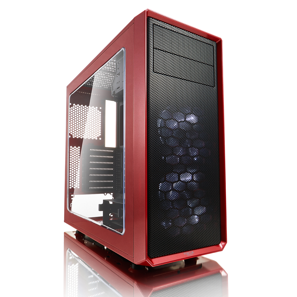Fractal Design Focus G ATX Mid Tower Computer Case - Mystic Red