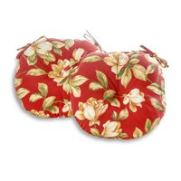Greendale Home Fashions Roma Floral 18'' Outdoor Bistro Chair Cushion, Set of 2