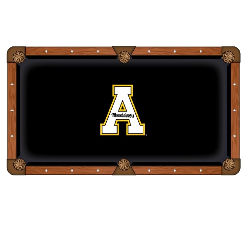 Appalachian State Pool Tablecloth 8' w  Mountaineers Logo by Hainsworth by Holland Bar Stool Co